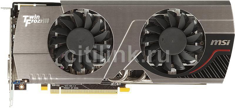 Видеокарта MSI Radeon HD 7870,  2Гб, GDDR5, OC,  Ret [r7870 twin frozr 2gd5/oc]