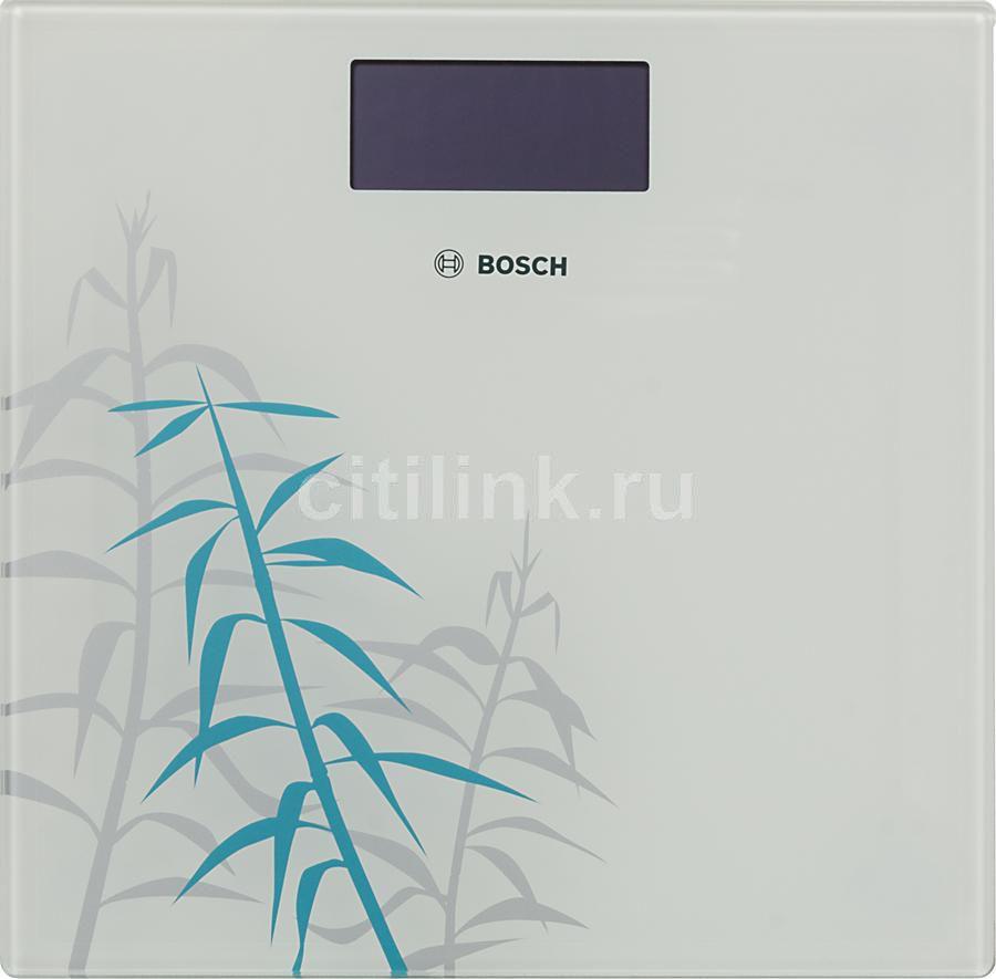 Напольные весы BOSCH PPW3303, до 180кг, цвет: белый/рисунок