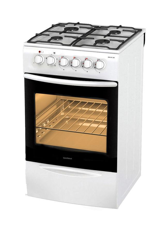 Газовая плита DARINA F KM 341 304 W,  электрическая духовка,  белый