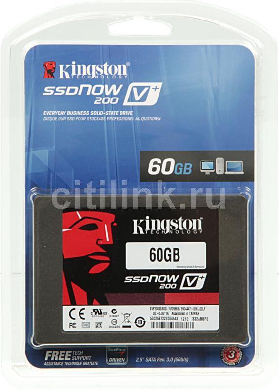 SSD накопитель KINGSTON V+ 200 SVP200S3/60G 60Гб, 2.5