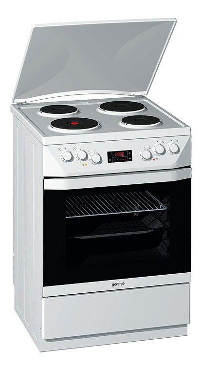 Электрическая плита GORENJE E65348DW,  эмаль,  белый