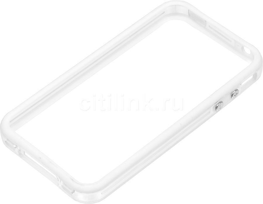 Бампер DEPPA для Apple iPhone 4/4S, белый (прозрачный)