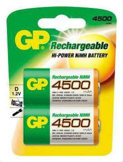 Аккумулятор GP 450DHC,  2 шт. D,  4500мAч