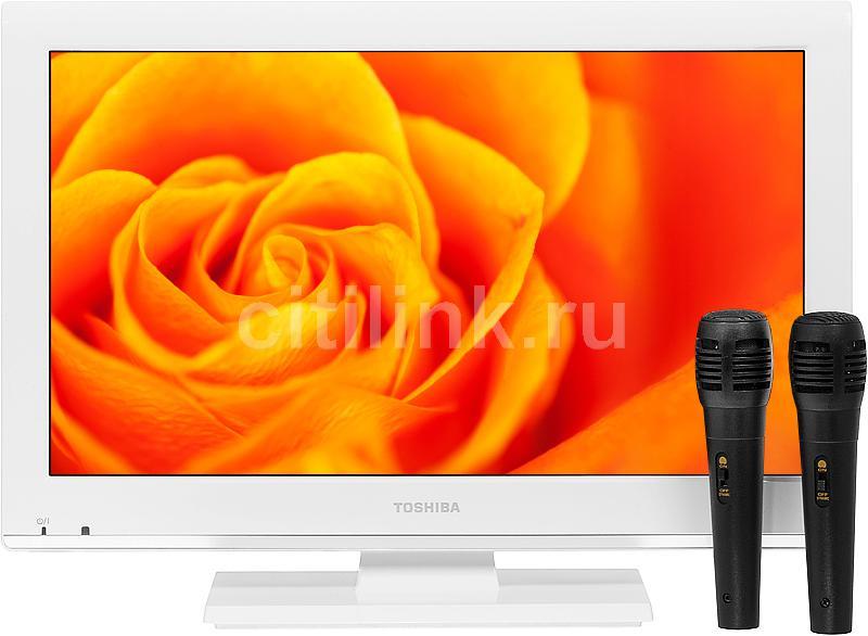 "LED телевизор TOSHIBA 19KL934R  ""R"", 19"", HD READY (720p),  c DVD плеером,  белый"
