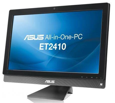 Моноблок ASUS ET2410IUKS, Intel Core i3 2120, 4Гб, 1000Гб, Intel HD Graphics 2000, DVD-RW, Windows 7 Home Premium, черный и серебристый [90pt0041003320c]