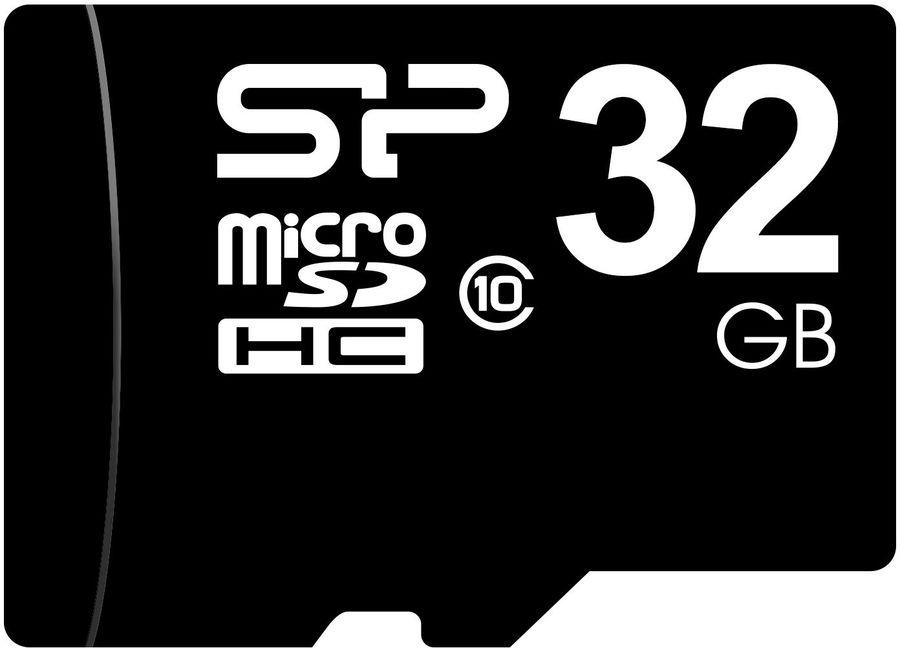 Карта памяти microSDHC SILICON POWER 32 ГБ, Class 10, SP032GBSTH010V10,  1 шт.