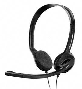 Наушники с микрофоном SENNHEISER PC 36,  накладные, черный  [502773]