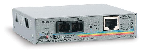 Медиаконвертер Allied Telesis AT-FS232/1-60 Fast Ethernet 10/100TX100FX (SC) 15km