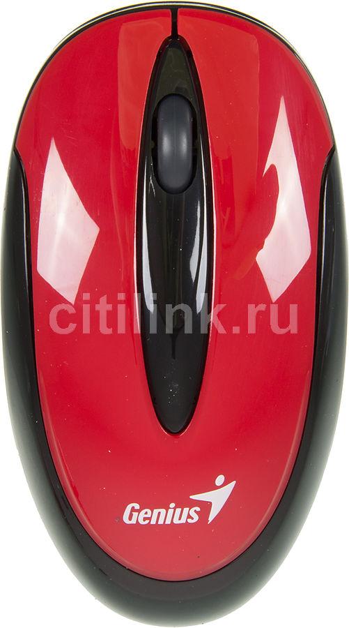 Мышь GENIUS Traveler 6010 оптическая беспроводная USB, красный и черный [31030055104]