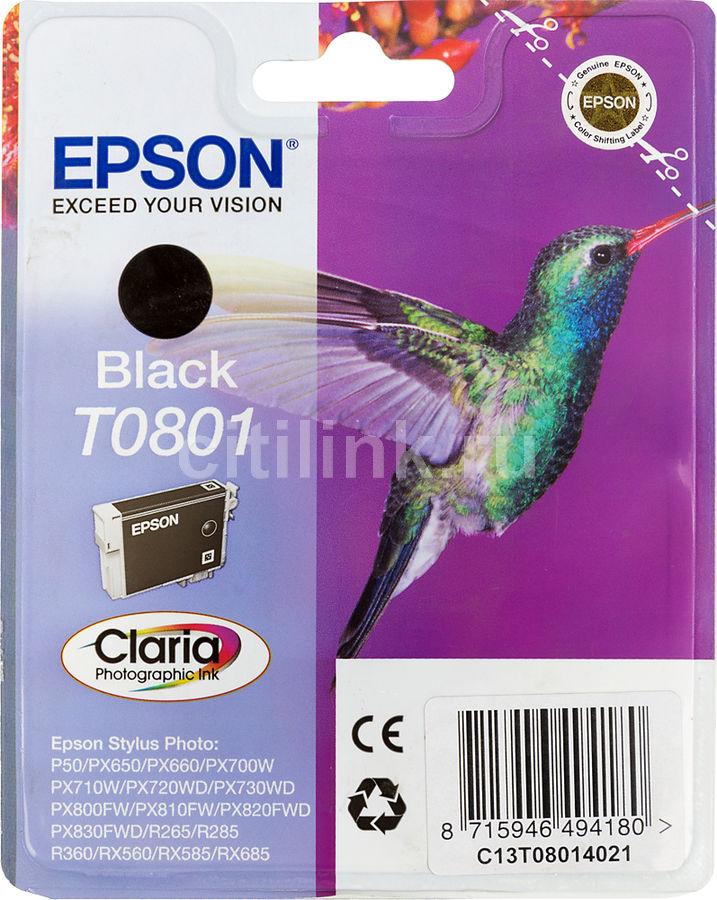Картридж EPSON T0801 черный [c13t08014011]