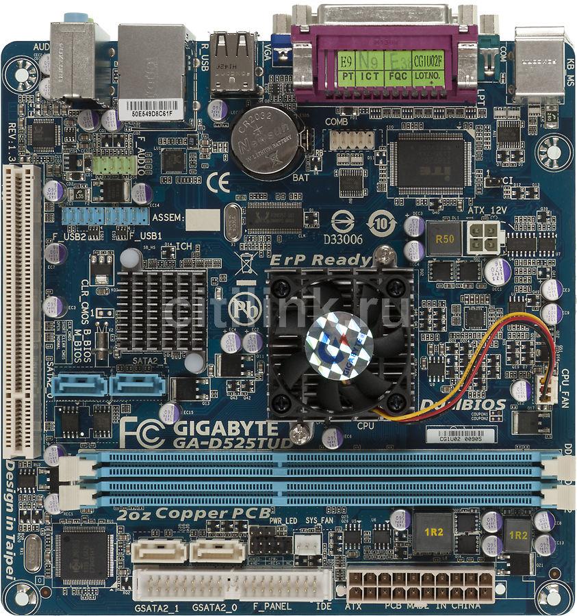 Материнская плата GIGABYTE GA-D525TUD mini-ITX, Ret