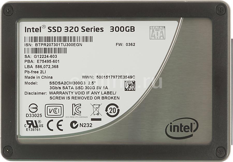 SSD накопитель INTEL 320 Series SSDSA2CW300G310 300Гб, 2.5