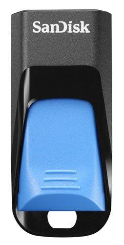 Флешка USB SANDISK Cruzer Edge 8Гб, USB2.0, голубой [sdcz51w-008g-b35b]