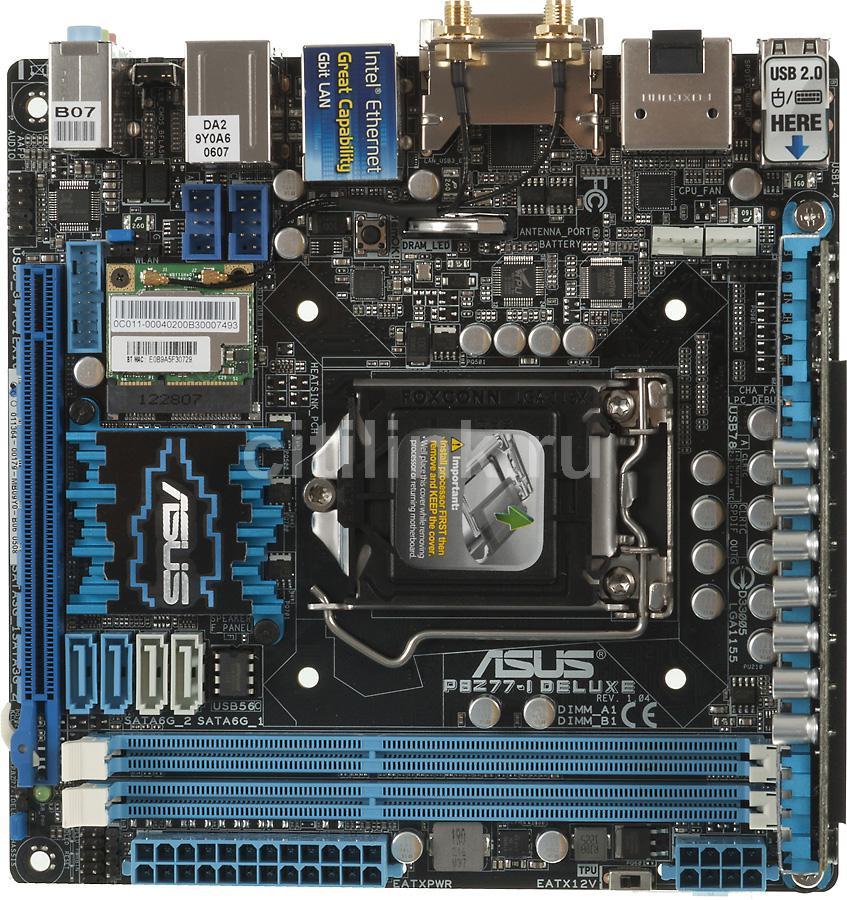Материнская плата ASUS P8Z77-I DELUXE LGA 1155, mini-ITX, Ret