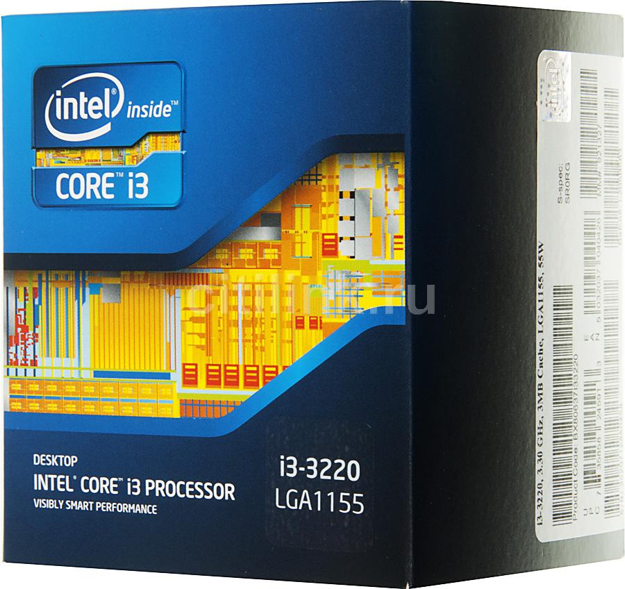Процессор INTEL Core i3 3220, LGA 1155 BOX [bx80637i33220sr0rg]