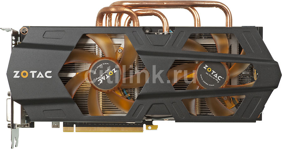 Видеокарта ZOTAC GeForce GTX 680,  2Гб, GDDR5, Ret [zt-60102-10p]