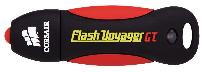 Флешка USB CORSAIR Voyager GT 64Гб, USB3.0, черный и красный [cmfvygt3s-64gb]