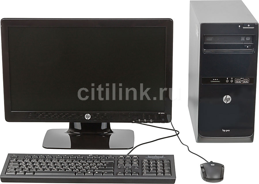 Компьютер  HP Pro 3500 MT + монитор 2011x (комплект),  Intel  Core i3  2120,  DDR3 2Гб, 500Гб,  Intel HD Graphics,  DVD-RW,  CR,  Free DOS,  черный [qb301ea]