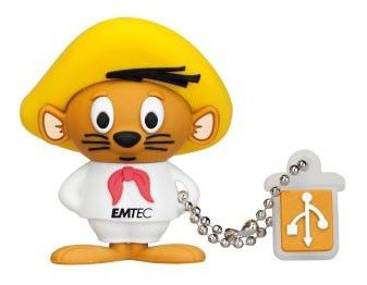 Флешка USB EMTEC L102 Speedy Gonzales 8Гб, USB2.0, коричневый и белый [ekmmd8gl102]