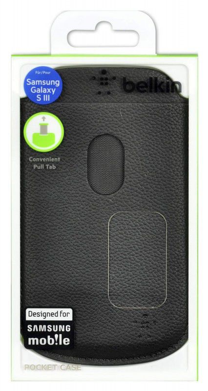 Чехол (футляр) BELKIN F8M410cwC00, для Samsung Galaxy S III, черный