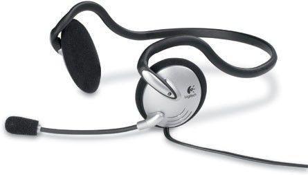 Наушники с микрофоном LOGITECH PC Headset 120,  980447-0914,  накладные, серебристый  / черный