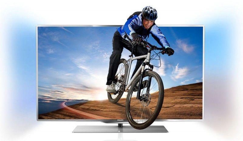"LED телевизор PHILIPS 46PFL7007T/12  46"", 3D,  FULL HD (1080p),  серебристый"