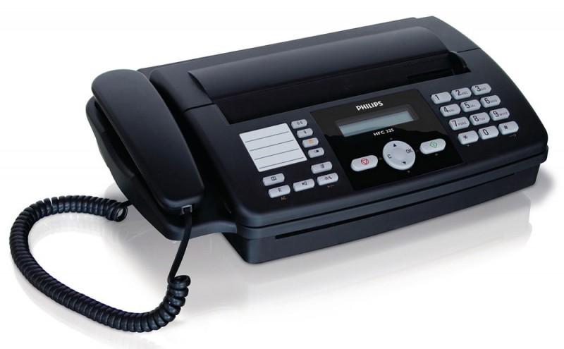 Факс PHILIPS HFC-325,  на термобумаге,  черный
