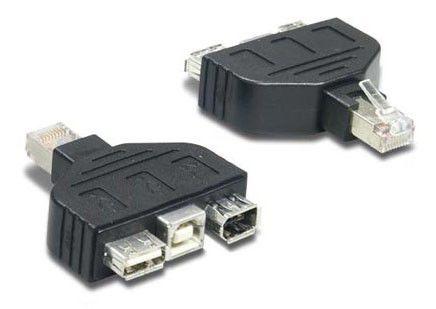 Переходник USB TRENDNET RJ-45 (m) -  FireWire 4p (m)3 x  [tc-ntuf]