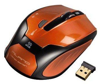Мышь HAMA H-52390 Milano оптическая беспроводная USB, оранжевый