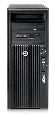 Рабочая станция  HP Z420,  Intel  Xeon  E5-1607,  DDR3 8Гб, 1000Гб,  nVIDIA Quadro 600 - 1024 Мб,  DVD-RW,  CR,  Windows 7 Professional,  черный [c2z15es]