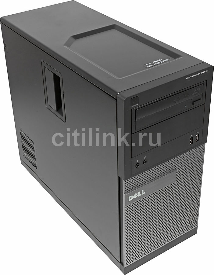 Компьютер  DELL Optiplex 3010 MT,  Intel  Core i5  3450,  DDR3 4Гб, 500Гб,  Intel HD Graphics,  DVD-RW,  Windows 7 Professional,  черный и серебристый [x063010102r]