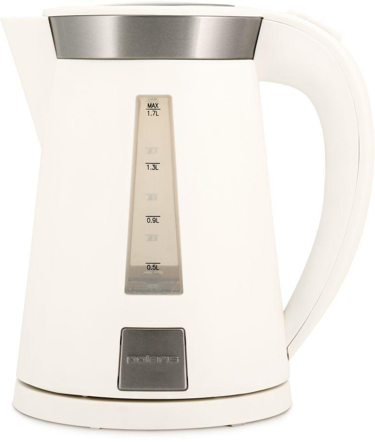 Чайник электрический POLARIS PWK1701CL, 2200Вт, белый