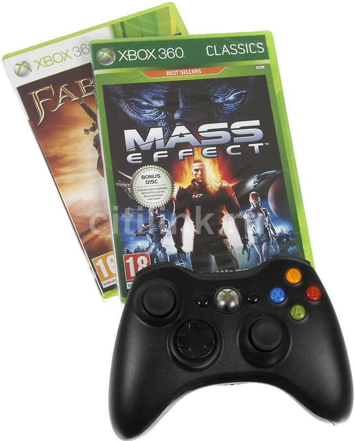 Беспроводной контроллер MICROSOFT Xbox 360 [hw_wrls fbl3+msef]