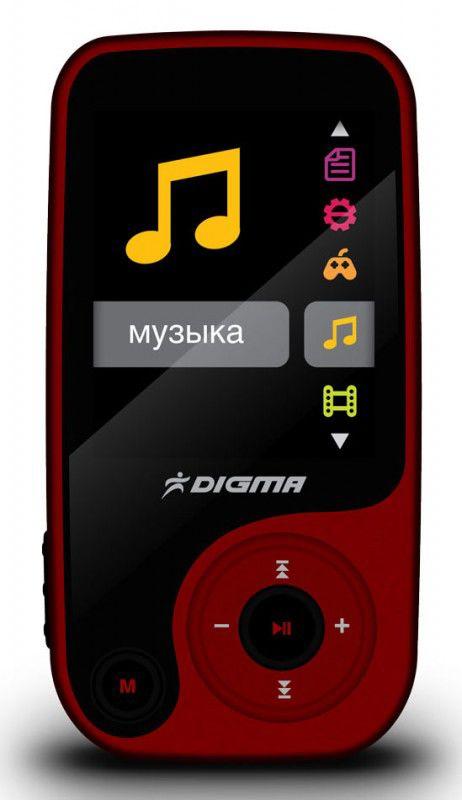 MP3 плеер DIGMA Q3 flash 8Гб красный/черный