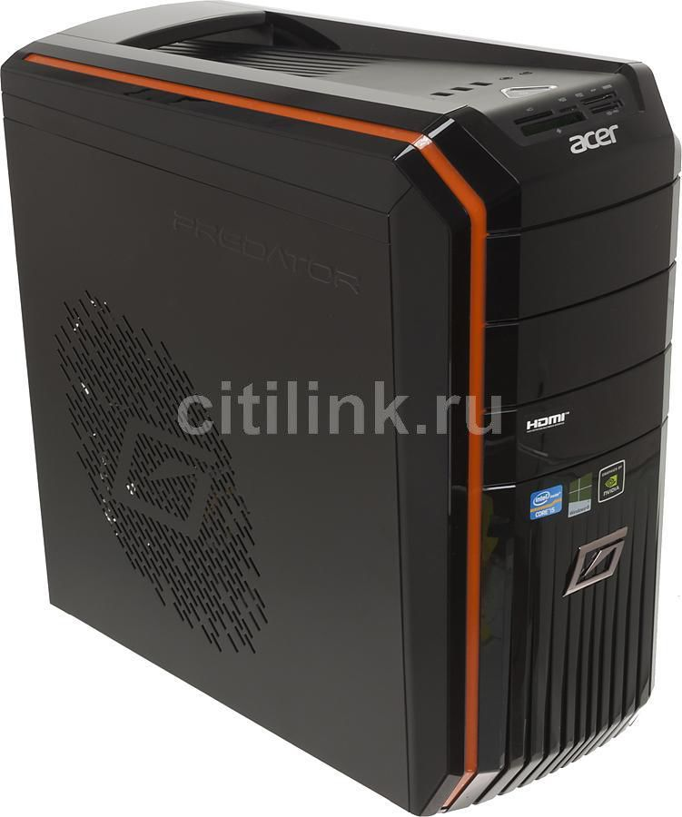 Компьютер  ACER Aspire Predator G3620,  Intel  Core i5  3470,  DDR3 6Гб, 1000Гб,  nVIDIA GeForce GT645 - 1536 Мб,  DVD-RW,  CR,  Windows 8,  черный и оранжевый [dt.sjper.012]