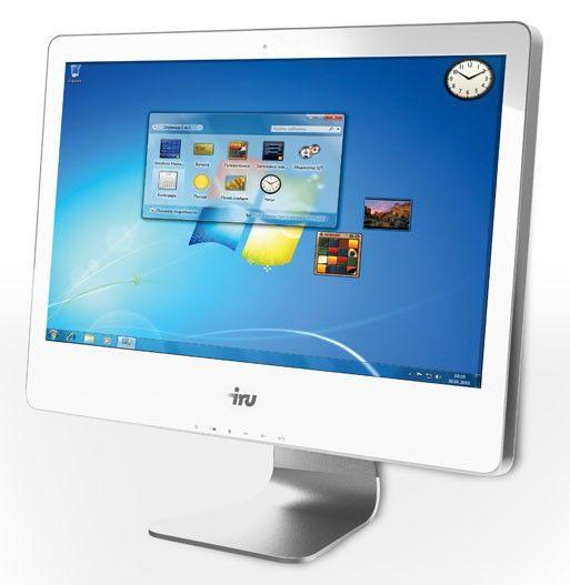 Моноблок IRU 304, Intel Core i3 2120, 4Гб, 500Гб, nVIDIA GeForce GT520 - 1024 Мб, DVD-RW, Free DOS, белый