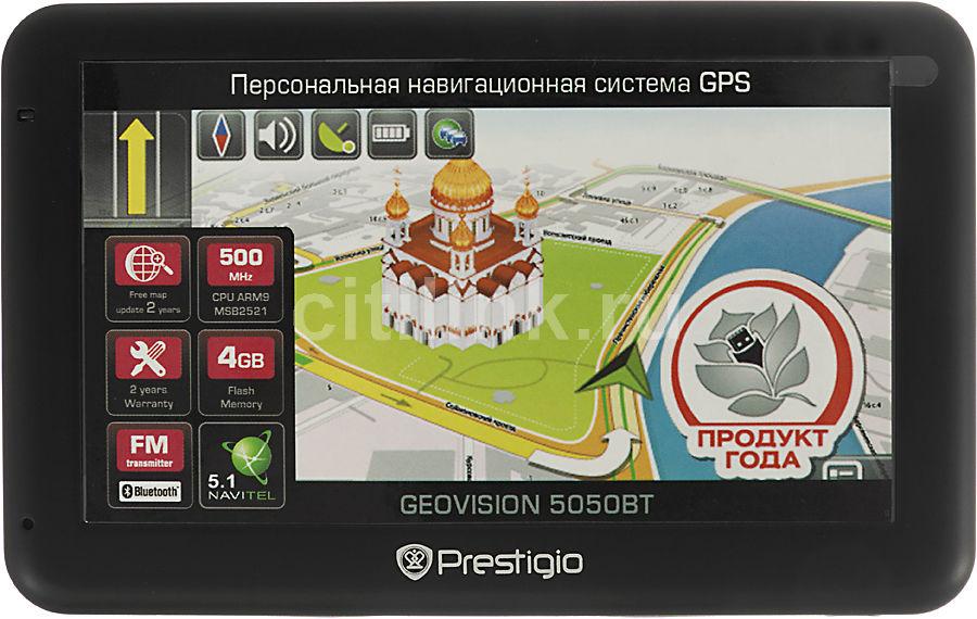GPS навигатор PRESTIGIO GeoVision 5050BT,  5
