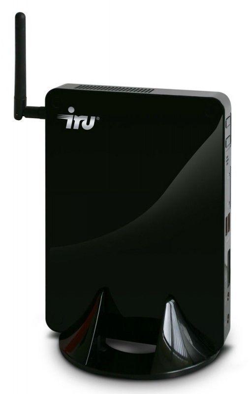 Неттоп  IRU 122,  Intel  Atom  D2500,  DDR3 2Гб, 500Гб,  без ODD,  CR,  Ubuntu,  черный