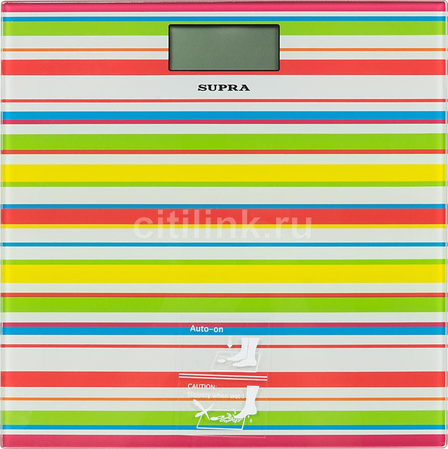 Напольные весы SUPRA BSS-2080, до 150кг, цвет: белый/рисунок [1240]
