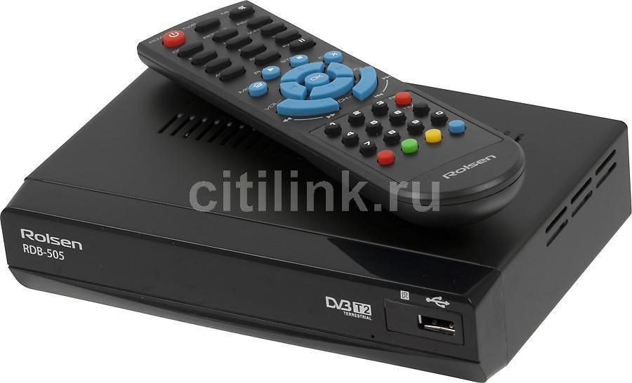 Ресивер DVB-T2 ROLSEN RDB-505,  черный
