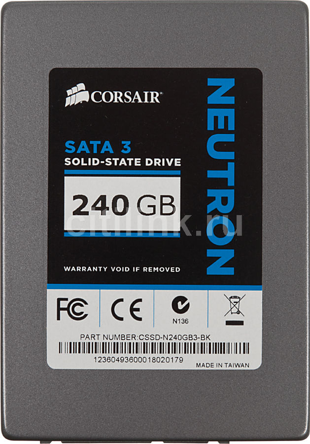 SSD накопитель CORSAIR Neutron CSSD-N240GB3-BK 240Гб, 2.5