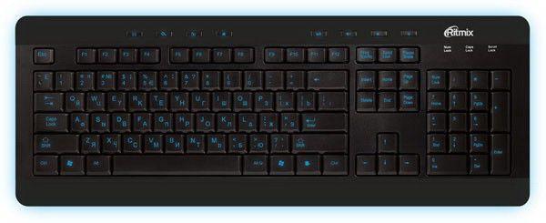 Клавиатура  RKB-110,  USB, черный