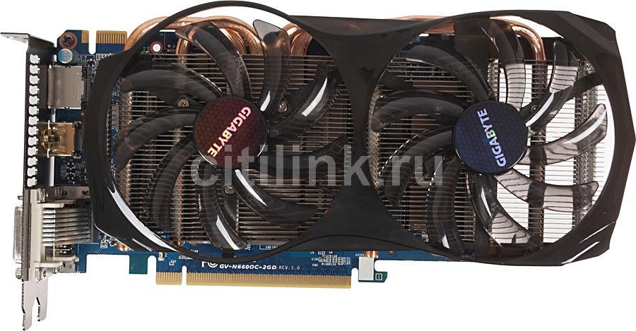 Видеокарта GIGABYTE GeForce GTX 660,  GV-N660OC-2GD,  2Гб, GDDR5, OC,  Ret