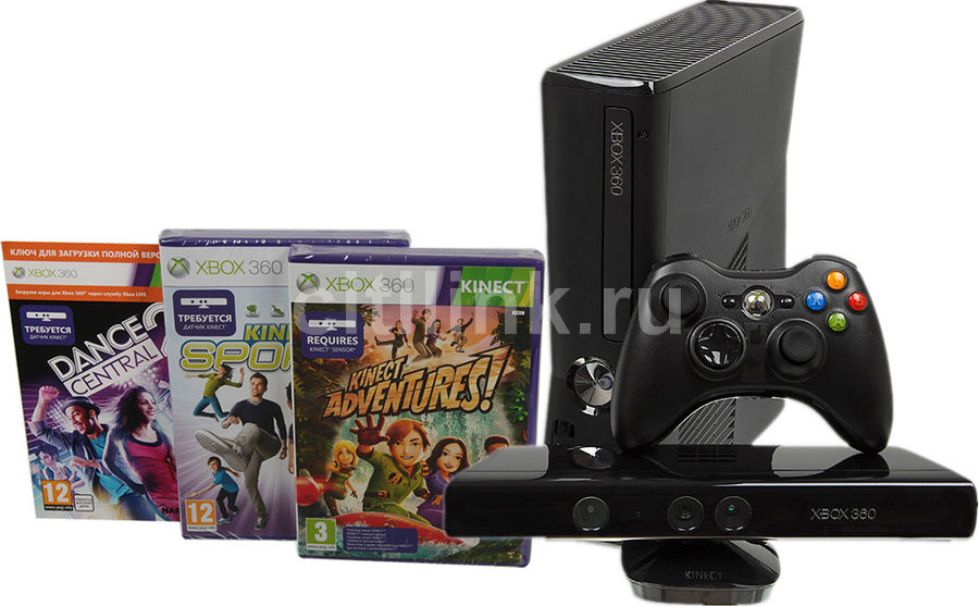Игровая консоль MICROSOFT Xbox 360 S7G-00088, черный