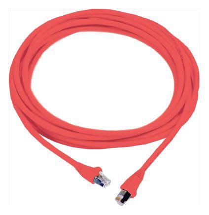 Патч-корд MOLEX PCD-00304-0C литой (molded), FTP, cat.6, 0.5м, 4 пары, 26AWG,  1 шт,  красный