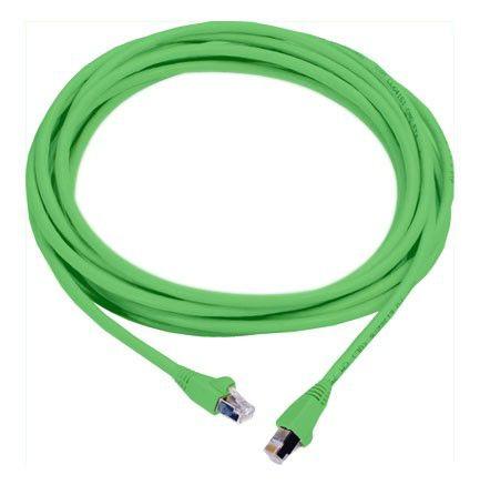Патч-корд MOLEX PCD-00309-0J литой (molded), FTP, cat.6, 3м, 4 пары, 26AWG,  1 шт,  зеленый