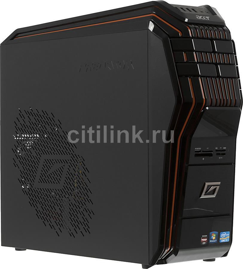Компьютер  ACER Aspire Predator G5920,  Intel  Core i7  3770S,  DDR3 8Гб, 1000Гб,  16Гб(SSD),  nVIDIA GeForce GTX 660 - 1536 Мб,  DVD-RW,  CR,  Windows 8,  черный и оранжевый [dt.sjner.012]