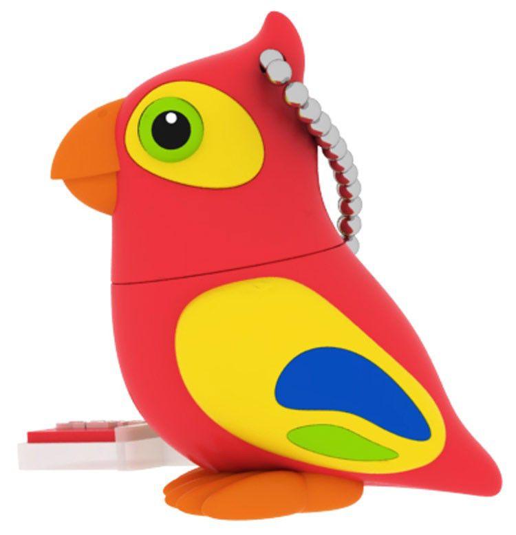 Флешка USB EMTEC M328 Parrot 8Гб, USB2.0, красный и желтый [ekmmd8gm328]
