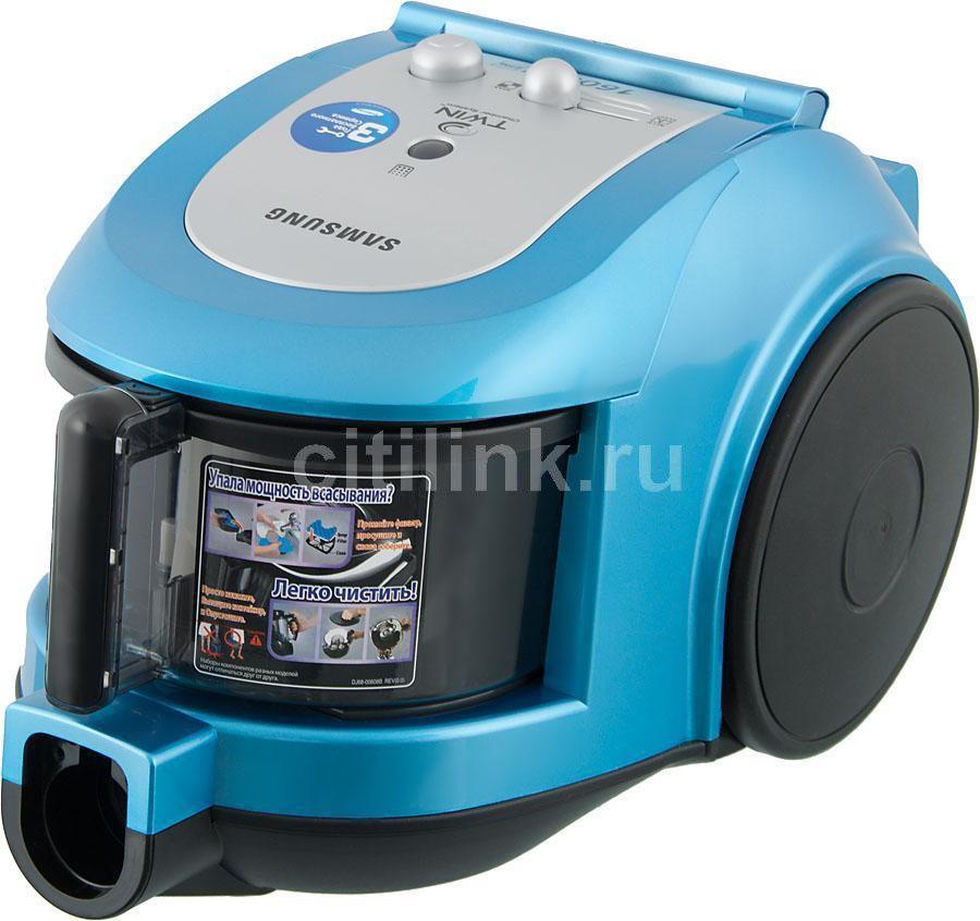 Пылесос SAMSUNG SC6534, 1600Вт, голубой