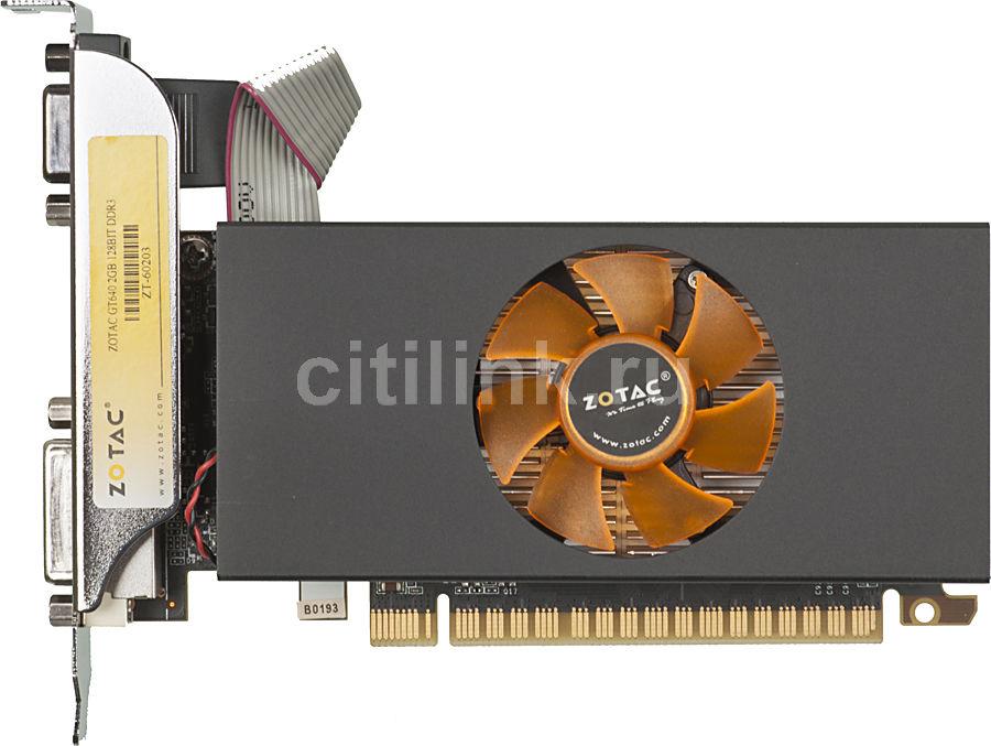 Видеокарта ZOTAC GeForce GT 640,  ZT-60203-10L,  2Гб, DDR3, Low Profile,  Ret